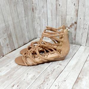 Suede strappy sandals